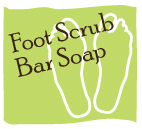 Foot scrub bar soap