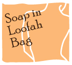 Soap in loofah bag